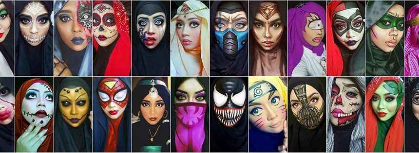 queen of luna makeup art hijab art