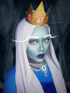 Queen of Luna: Adventure Time Makeup and Hijab Art